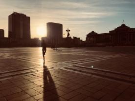Mongolian parlamentin edustan pönötysaukio.