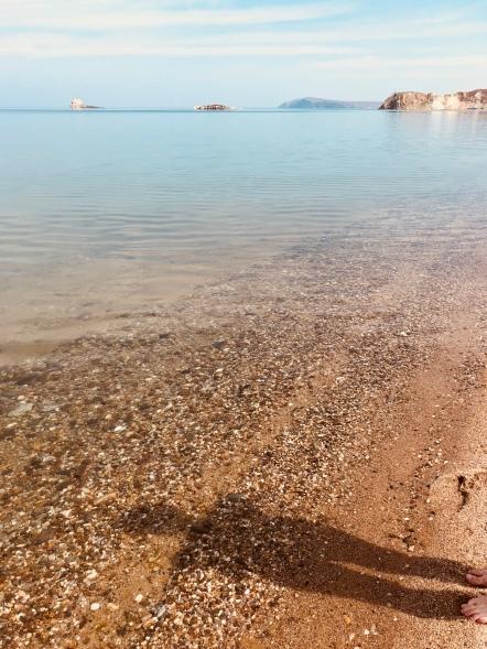 Vesi oli viileää.